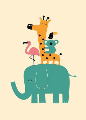 Kinderbilder fürs kinderzimmer giraffe  Kinderbilder auf Leinwand und Leinwandbilder für Kinder   JUNIQE