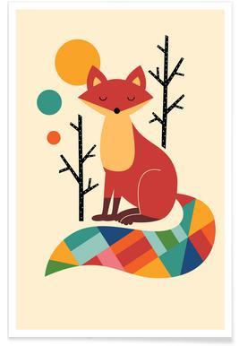 Rainbow Fox Affiche