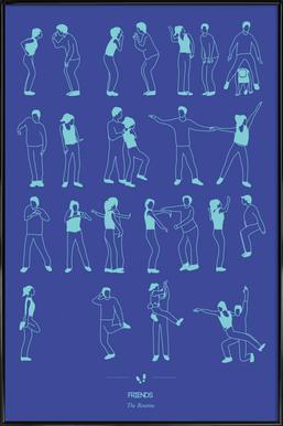 Friends - The Routine ingelijste poster