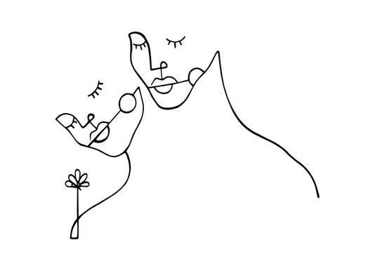 Lovers -Leinwandbild