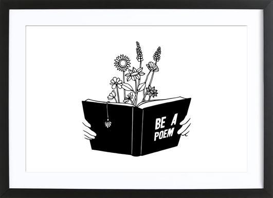 Be a Poem -Bild mit Holzrahmen
