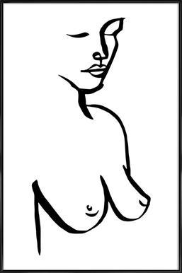 Bust Poster im Kunststoffrahmen