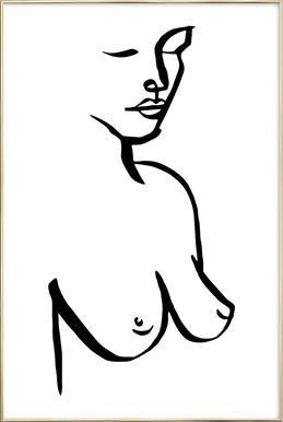 Bust Poster im Alurahmen
