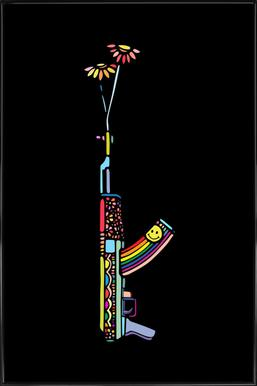 Grl Pwr Weapon Poster im Kunststoffrahmen