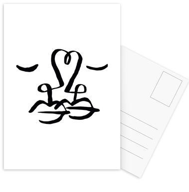 One Heart -Postkartenset