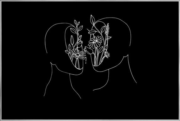 Sexual Healing -Poster im Alurahmen
