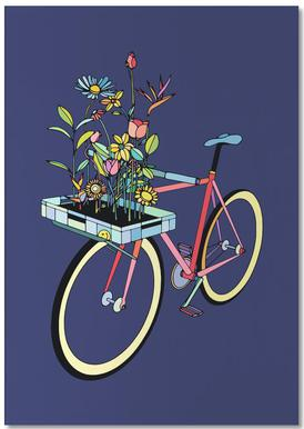 Bike and Flowers -Notizblock