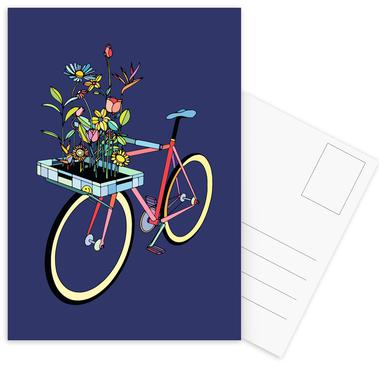 Bike and Flowers -Postkartenset