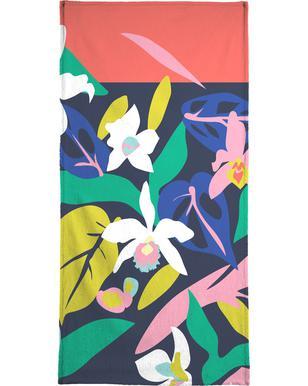 Orchid Jungle Beach Towel