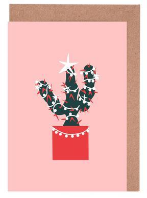 Christmas Cactus 1 Greeting Card Set