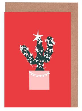 Christmas Cactus 2 wenskaartenset