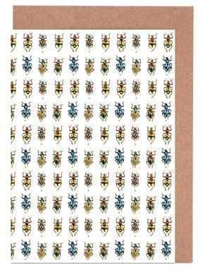 Tiny Beetles Greeting Card Set