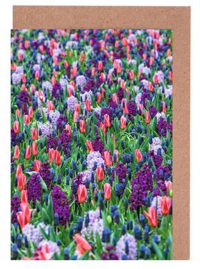 Tulip Field Purple Set de cartes de vœux