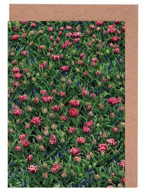 Tulip Field Pink Set de cartes de vœux