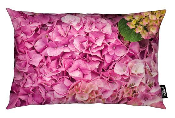 Hortensia pink als kussen juniqe
