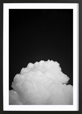 Black Clouds II affiche sous cadre en bois
