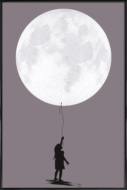Moonballoon Affiche sous cadre standard