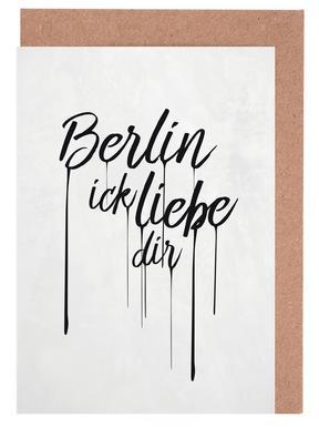 Berlin ick liebe dir Grußkartenset