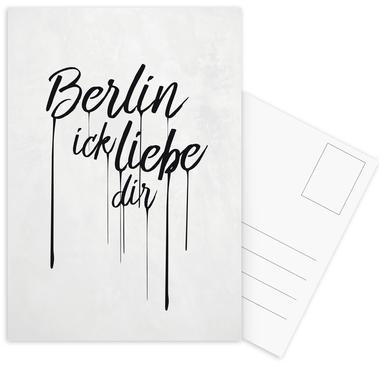 Berlin ick liebe dir Postcard Set