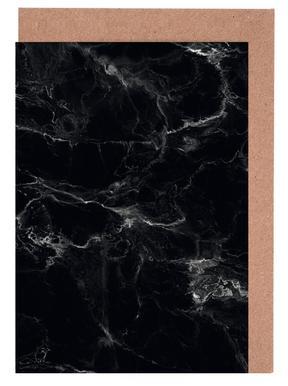 Schwarzer Marmor Grußkartenset