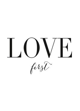 Love First Canvas Print