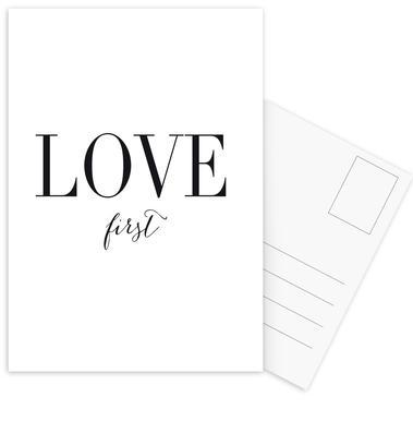Love First Set de cartes postales