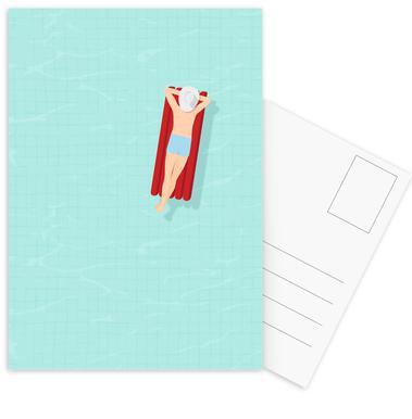 Luftmatratze Postcard Set