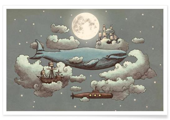 Ocean meets sky Poster