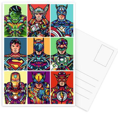 Super Pop Set de cartes postales