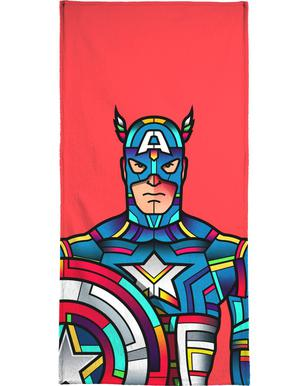 Captain America Hand & Bath Towel