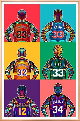 NBA Legends Poster in Aluminium Frame