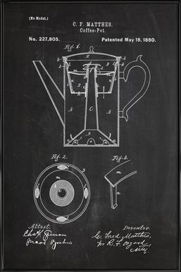 Coffee Pot Poster i standardram