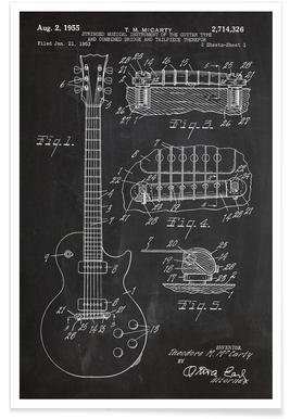Gitaar - patent poster