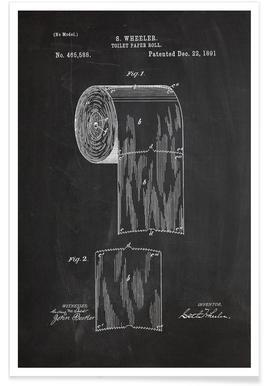 Toiletpapier - patent Poster