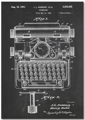 Typewriter Carnet de note