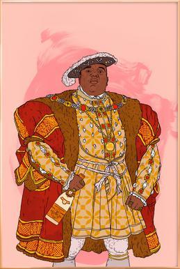 Rap Royalty 001 Poster im Alurahmen