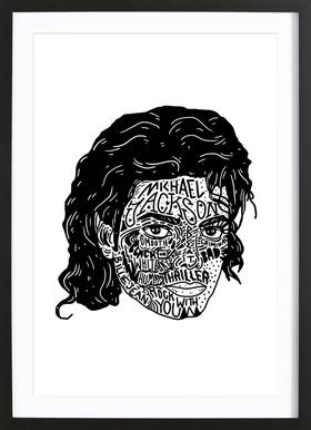 Mikey Poster im Holzrahmen