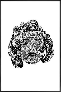 Marylin -Bild mit Kunststoffrahmen