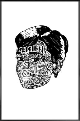 Audrey Poster im Kunststoffrahmen