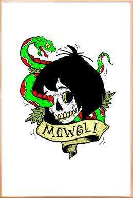 Mowgli Poster im Alurahmen