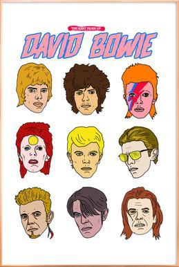 Bowie 2 -Poster im Alurahmen