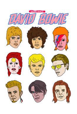 Bowie 2 tableau en verre