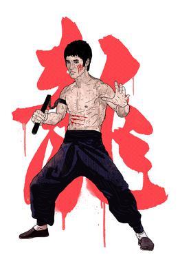 Bruce Lee Alu-Dibond Druck