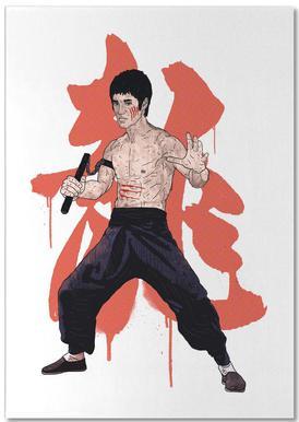 Bruce Lee Notizblock