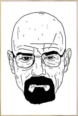 Walt Poster im Alurahmen