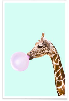 Giraffe Paul Fuentes Poster