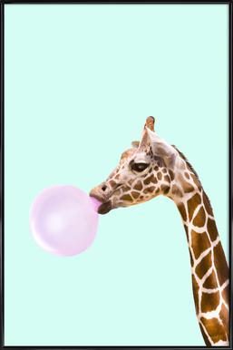 Giraffe Poster im Kunststoffrahmen