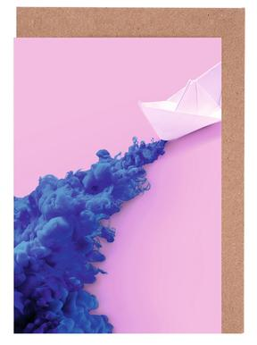 Paper Boat Greeting Card Set