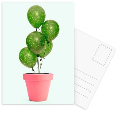 Cactus Balloon Postcard Set