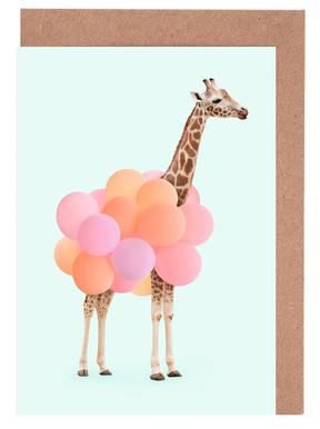 Party Giraffe wenskaartenset